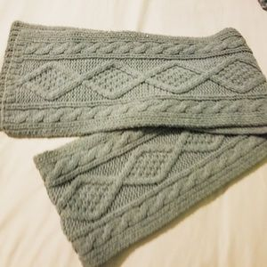 Hand knit cozy gray scarf